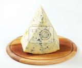 blue cheese on a cutting board