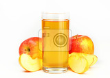 Fotografie glass of apple juice  studio shot
