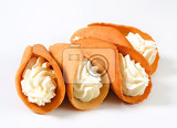 czech coneshaped gingerbread cookies stramberk ears filled with whipped cream