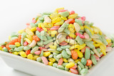 sugar coated colored puffed rice