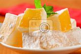 Fotografie greek loukoumi turkish delight with delicious mastic flavor