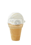 ice cream cone isolated on white background