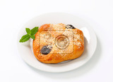 sweet pastry wrap filled with plum jam