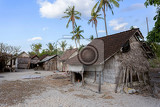 poor huts of the natives traditional indonesian poor house  shack on beach nusa penida island toyapakeh bali