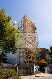 Fotografie special asian technology of scaffolding made by bamboo manado north sulawesi indonesia