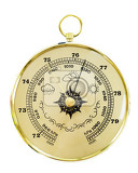 Fotografie closeup of an old barometer isolated on white