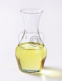cooking oil in a carafe