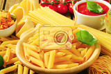 Fotografie assorted pasta and tomato puree