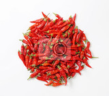 Fotografia dried red hot chili peppers