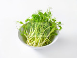 bowl of green pea sprouts