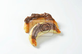 Fotografie croissants topped with chocolate butter spread