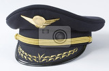 Fotografia pilot hat with gold insignia  studio