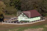 Fotografie new build of small rural rural village wastewater treatment plant