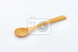 Fotografie small brown wooden dinner  spoon