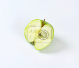 Fotografie half a fresh  green apple