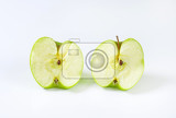 Fotografie halved fresh juicy green apple