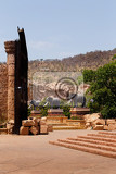 Fényképek gigantic elephant statues on fluttering bridge of time in famous resort lost city in sun city south africa