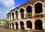 Fotografia City of Verona and theater. Northern Italy.