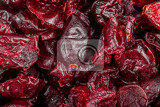 Fotografie macro of freshly dried cranberries in christmas time