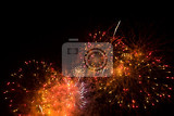 beautiful fireworks in the night sky motion blur for abstract background