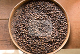 traditional bali freshly roasted coffe in bowl indonesia