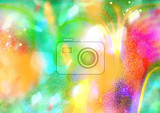 Fotografie colored abstraction rainbow pattern glow colors textured sprayed background