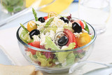 Fotografie bowl of fresh greek salad
