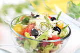 Fotografie bowl of fresh greek salad  detail