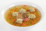 bouillon with meat dumplings
