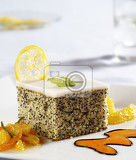 poppy seed cake with lemon glaze