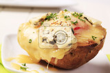 double cheese twice baked potato sprinkled with parsley