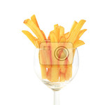 Fotografie french fries in a wine glass  closeup