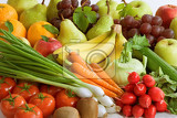 Fotografie assortment of fresh vegetables and fruit