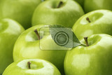 Fotografie fresh green apples with glossy skin