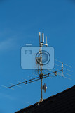 television antenna and wifi transmitter on the roof