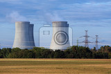 cooling towers at the nuclear power plant in dukovany czech republic