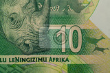 detail of rand banknote south african rands is the national currency of south africa