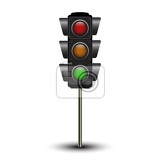 traffic lamps traffic lights isolated on white background