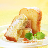 Photo slices of madeira cake