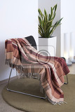 Photo plaid draped over a chair