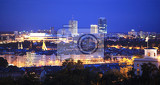 panoramic view of prague at night czech republic