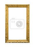 Fotografie antique picture frame isolated on white