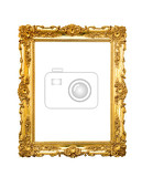 Fotografie ornate picture frame hanging on a wall
