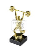 weightlifting trophy  golden statue of a weightlifter