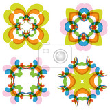 abstract flower set for creative design