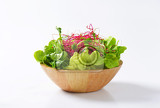 bowl of mixed green salad