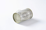 studio shot of a single tin can