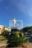 statue of a indian warrior in in kota manado main square north sulawesi indonesia