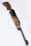 isolated hunting rifle on white background