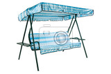 camping and garden furniture on isolated studio background